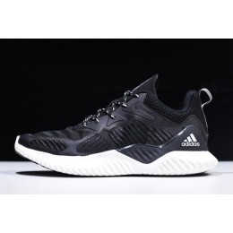 Men 2018 Adidas AlphaBounce Beyond Black-White B42381