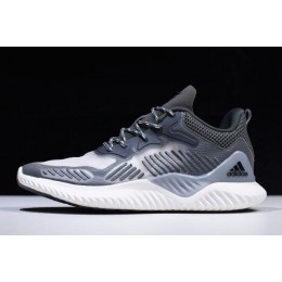 Men 2018 Adidas AlphaBounce Beyond Grey-White B42384