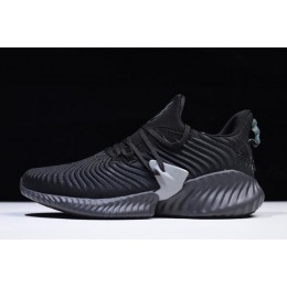Men/Women Adidas AlphaBounce Instinct CC Black Grey Running Shoes