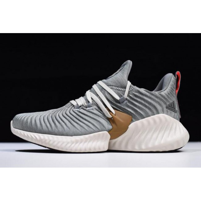 Men Adidas AlphaBounce Instinct CC M Grey-White Running Shoes