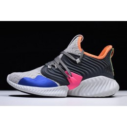 Men Adidas AlphaBounce Instinct Clima Grey Two-Hi Res Orange