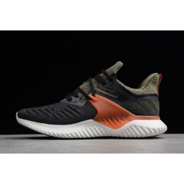 Men Adidas Alphabounce Beyond 2 M Black-Olive-Orange-White