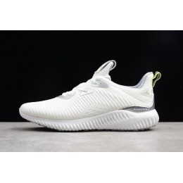Men Adidas AlphaBounce 1 Kolor White-Grey Two-Semi Solar Yellow