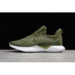 Men Adidas AlphaBounce Army Green-White