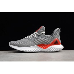 Men Adidas Alphabounce Beyond Grey Red Running Shoes