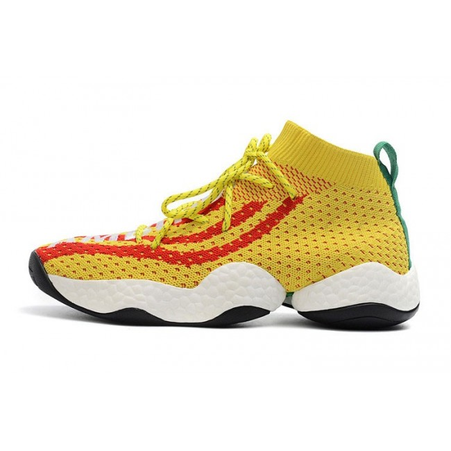 Men Pharrell x Adidas Crazy BYW Ambition Bright Yellow-Red-Green
