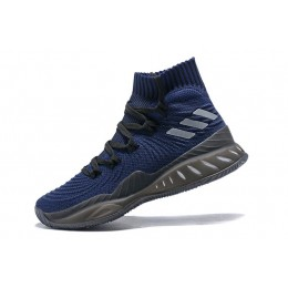 Men Adidas Crazy Explosive 2017 Navy Blue-Black Basketball Shoes