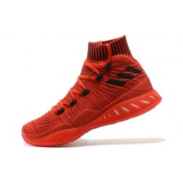 Men Adidas Crazy Explosive 2017 Primeknit Gym Red-Black Basketball Shoes