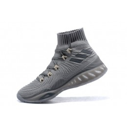 Men Adidas Crazy Explosive 2017 Primeknit Triple Grey BY4470