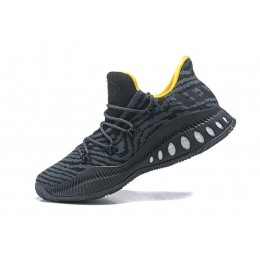 Men Adidas Crazy Explosive Low Black Yellow Basketball Shoes