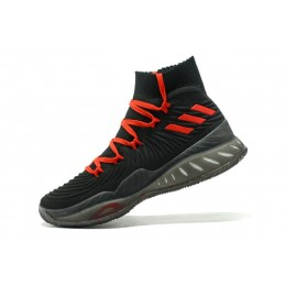 Men Adidas Crazy Explosive 2017 Primeknit Black Red Basketball Shoes