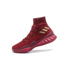 Men Adidas Crazy Explosive 2017 Wine Red-Metallic Gold-White