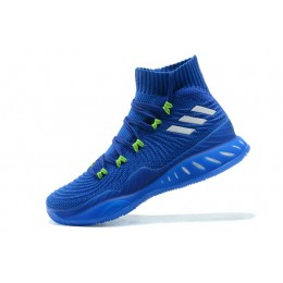 Men New Adidas Crazy Explosive 2017 Primeknit Andrew Wiggins Navy Blue-Green