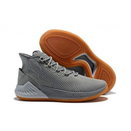 Men 2018 Adidas D Rose 9 Grey Gum Basketball Shoes
