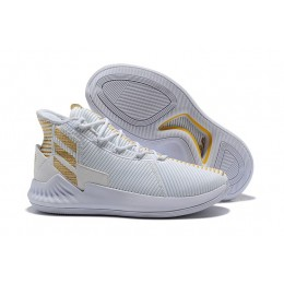 Men 2018 Adidas D Rose 9 White Gold Basketball Shoes