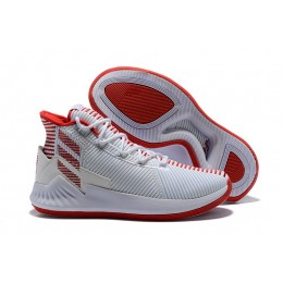 Men 2018 Adidas D Rose 9 White-Red Basketball Shoes