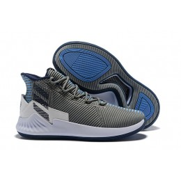 Men 2018 New Adidas D Rose 9 Grey Blue White Shoes