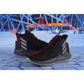 Men Latest Adidas D Rose 9 Black-Red-White