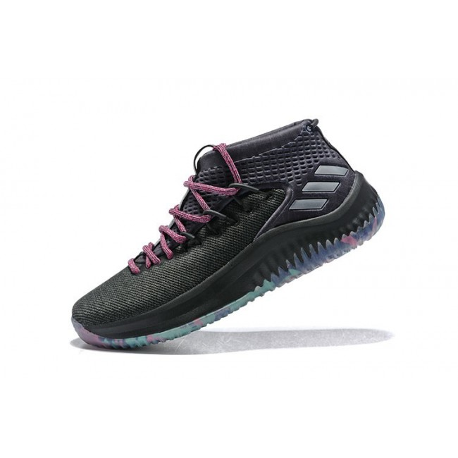 Men 2018 Adidas Dame 4 Chinese New Year Year of the Dog Black-Pink-Multi-Color