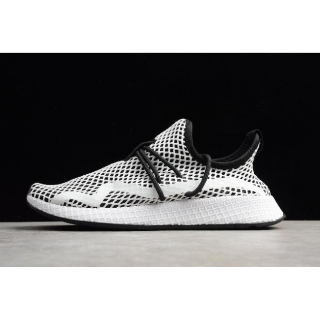 Men/Women Adidas Deerupt Runner Black-White and Size