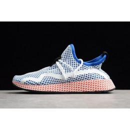 Men/Women Adidas Deerupt Runner Blue White Red Shoes