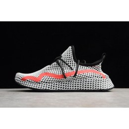 Men/Women New Adidas Deerupt Runner White Black Red Shoes