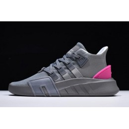 Men/Women Adidas EQT Bask ADV Grey Four-White-Shock Pink