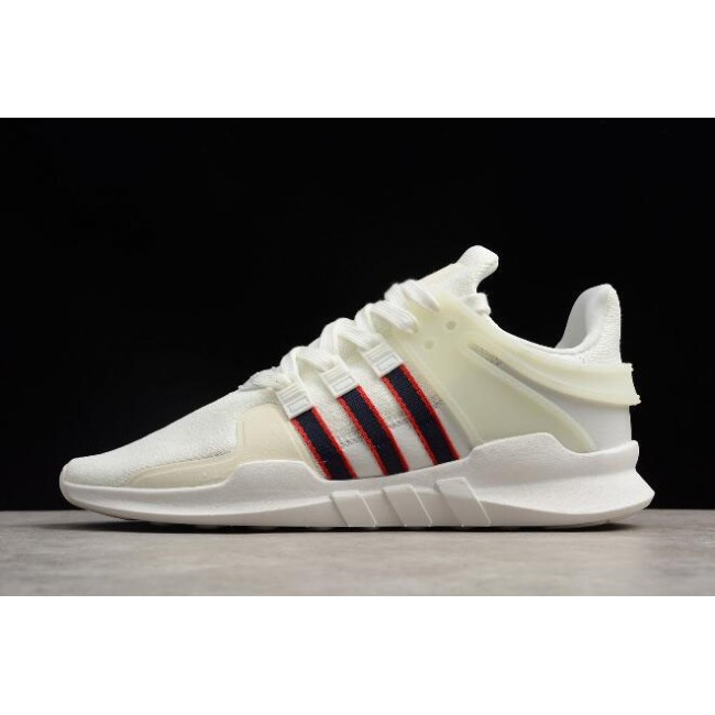 Men 2018 Adidas EQT Support ADV Crystal White-Collegiate Navy-Scarlet