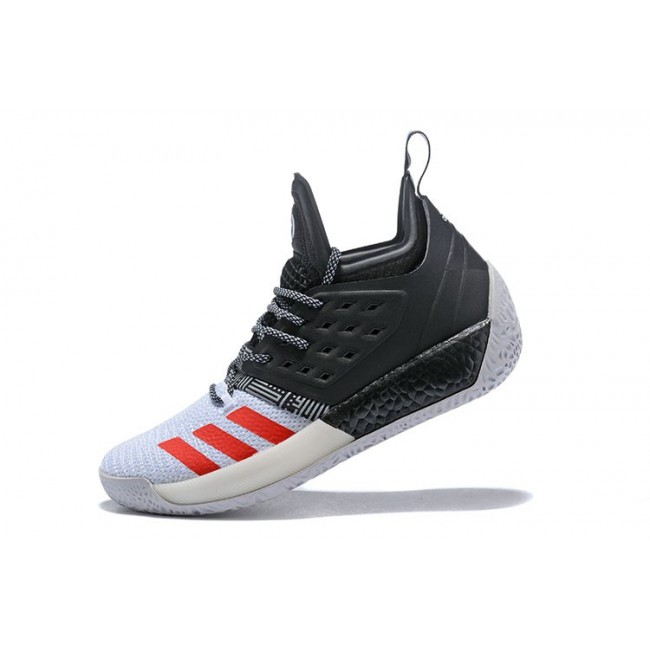 Men New Adidas Harden Vol.2 Black-White-Red Shoes