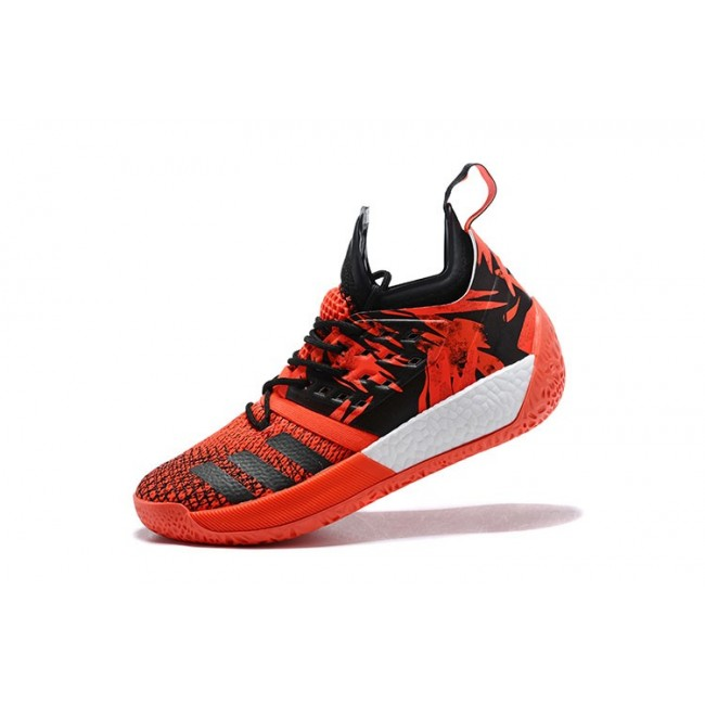 Men New Adidas Harden Vol.2 James Red-Black-White Shoes