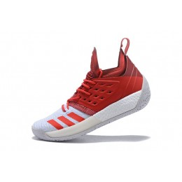 Men New Adidas Harden Vol.2 Red-White Shoes