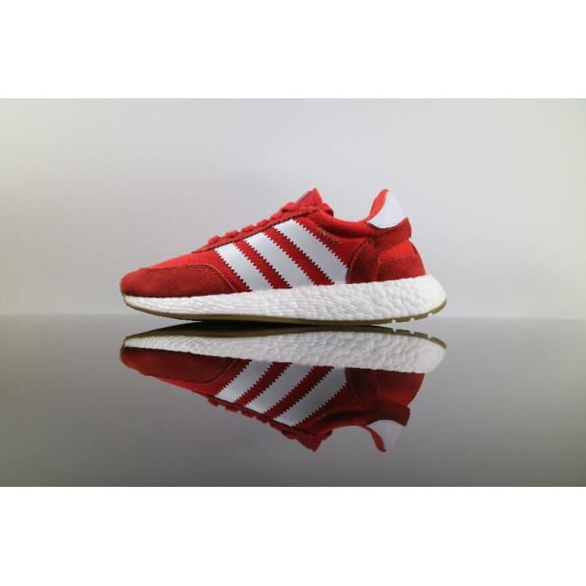 Men/Women Real Adidas Iniki Runner Boost Red White
