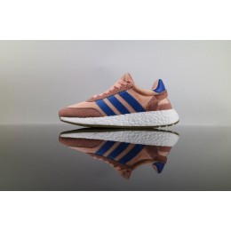 Men/Women Adidas Iniki Runner Boost HAZE CORAL Pink Blue
