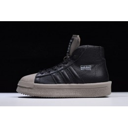 Men/Women Rick Owens x Adidas Mastodon Pro II Black-Grey