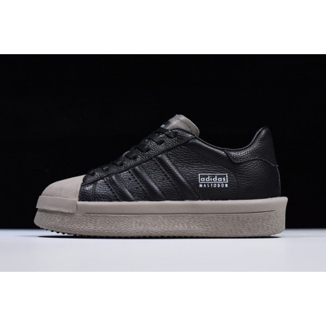 Men/Women Rick Owens x Adidas Mastodon Pro II Low Black-Grey