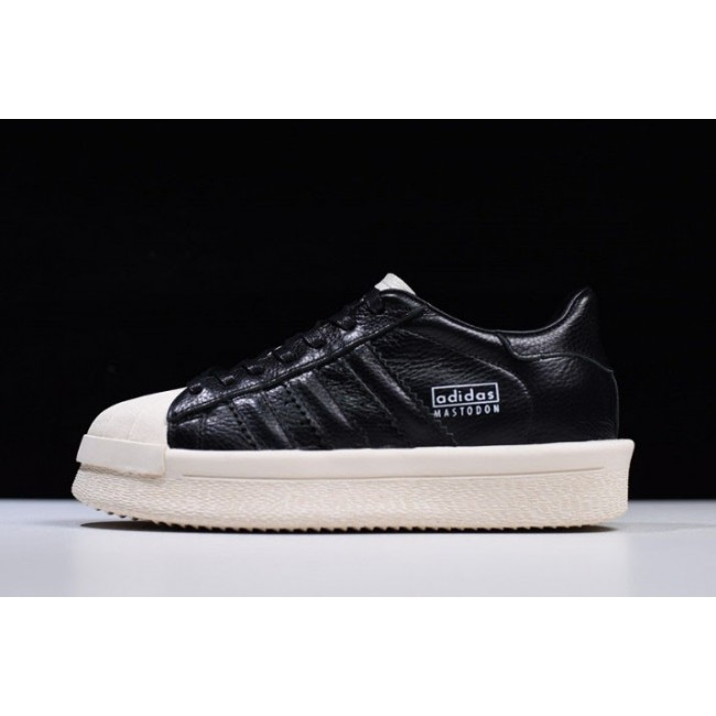 Men/Women Rick Owens x Adidas Mastodon Pro II Low Black-Sail