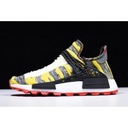 Men/Women Pharrell x Adidas Afro NMD Hu Core Black-Red