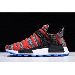 Men/Women Pharrell x Adidas NMD Afro Hu Red Grey Black Shoes