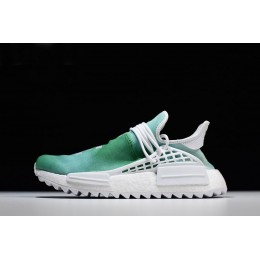 Men/Women Pharrell x Adidas NMD Human Race China Exclusive Youth Green-White