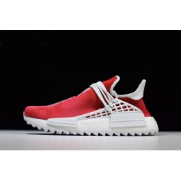 Men/Women Pharrell x Adidas NMD China Exclusive Passion Red-Footwear White