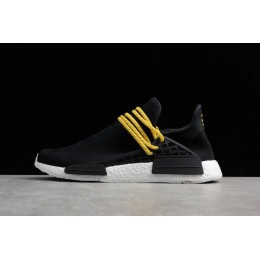 Men Pharrell x Adidas Boost Human Race NMD Black-White
