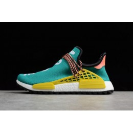 Men Pharrell x Adidas NMD Boost Race Hu Trail Sun Glow-Core Black-EQT Yellow
