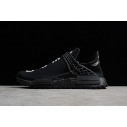 Men Pharrell x Adidas NMD Hu Trail N.E.R.D Core Black-Reflective Silver