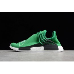 Men Pharrell x Adidas NMD Human Race Green-Footwear White-Black