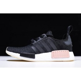 Men/Women Adidas NMD R1 Chalk Pearl Core Black-Noble Indigo-White