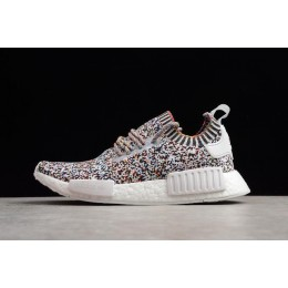 Men/Women Adidas NMD R1 Color Static White-Black-Mutli-Color