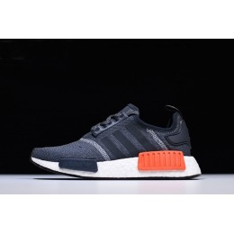 Men Adidas NMD R1 Dark Grey-Semi Solar Red