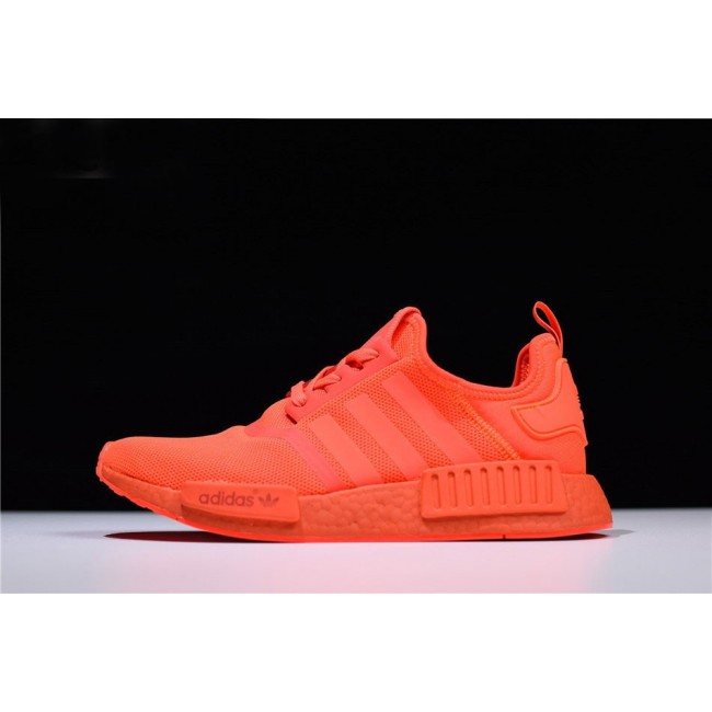 Men/Women Adidas NMD R1 Monochrome Pack Solar Red-Solar Red