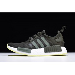Men Adidas NMD R1 Night Cargo-Base Green-Semi Frozen Yellow