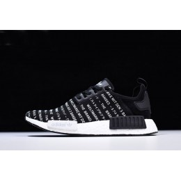 Men New Adidas NMD R1 Brand With The Three Stripes Core Black-White